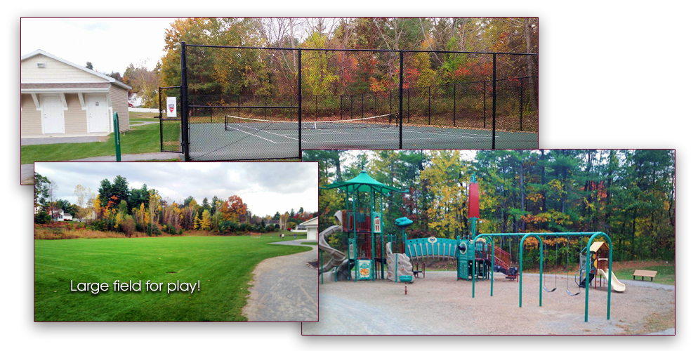 This park has everything for play! Including Basketball & Tennis courts!